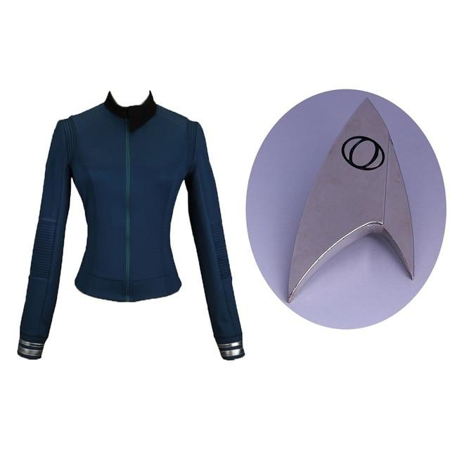 Star trek Discovery Season 2 Costume Female Top Starfleet Commander Uniform with Badge Woman Costumes Adult Cosplay Costume - BFJ Cosmart