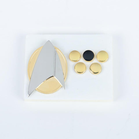 Star Trek Picard Combadge Rank Pips Brooch Command Science Engineering Pin Badge Accessories Halloween Party Prop a set - BFJ Cosmart