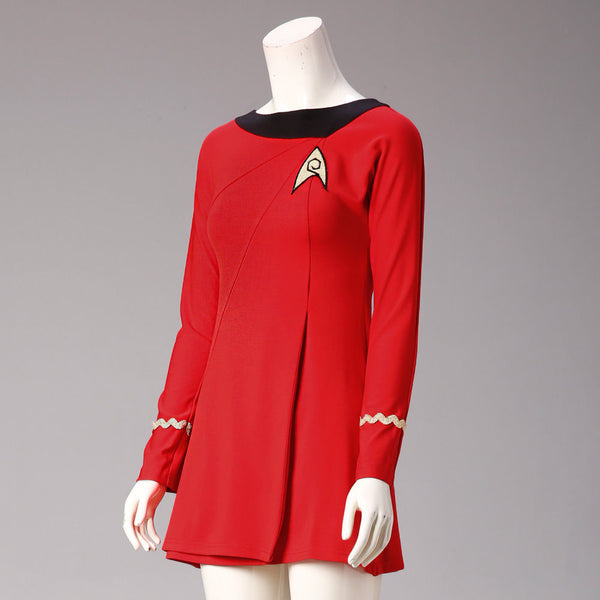 Star Trek  Costumes Cosplay Female Duty Uniform Red Dress Halloween Costumes
