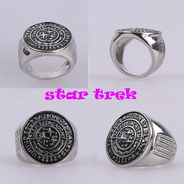 Star Trek Ring Star Trek Into Darkness Starfleet Academy Ring Accessories Cosplay Metal Rings Man Woman Ring Halloween Party - BFJ Cosmart