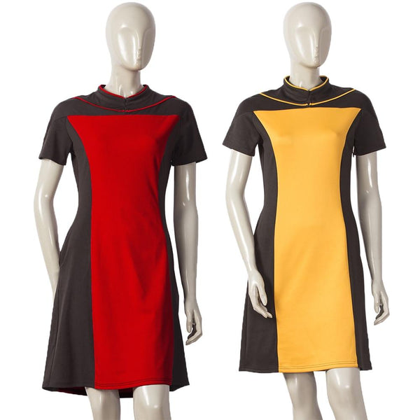 Star Trek The Next Generation Women's Skant Dress Uniform Costume Star Trek Dress Cosplay Halloween Party - BFJ Cosmart