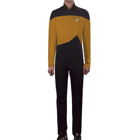 Star Trek Yellow Jumpsuit Unisex Adult Cosplay Costume Halloween Uniform - BFJ Cosmart