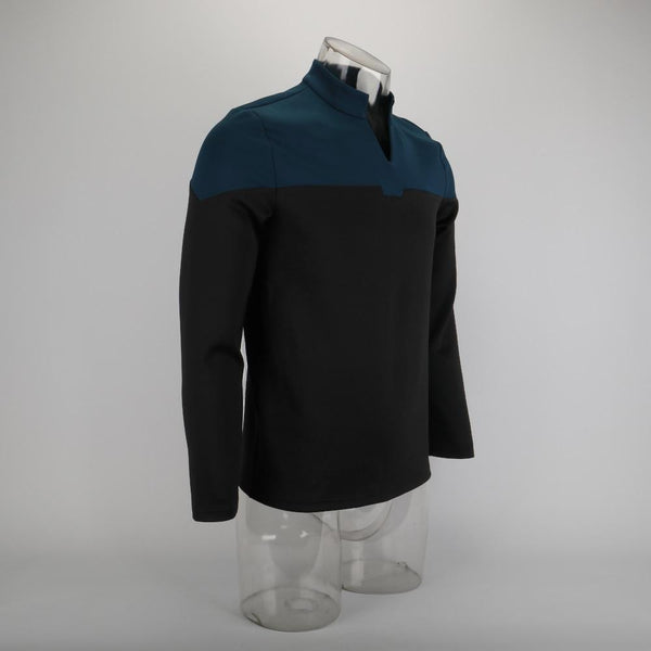 Cosplay 2019 Star Picard Startfleet Uniform Trek New Engineering Blue Top Shirts ST Costume Halloween Party Prop - BFJ Cosmart