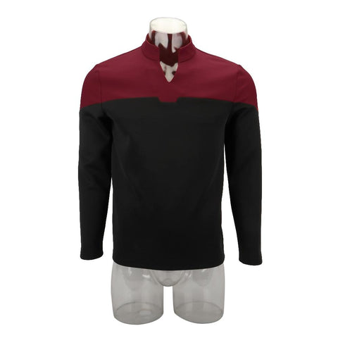 Cosplay 2019 Star Picard Startfleet Uniform Trek New Engineering Red Top Shirts ST Costume Halloween Party Prop - BFJ Cosmart