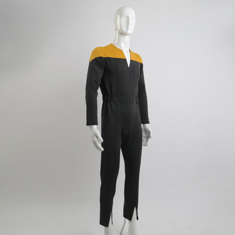 Star trek Deep Space Nine Trek Commander Sisko Duty Uniform Jumpsuit Yellow Cosplay Costumes Halloween Party Prop - BFJ Cosmart