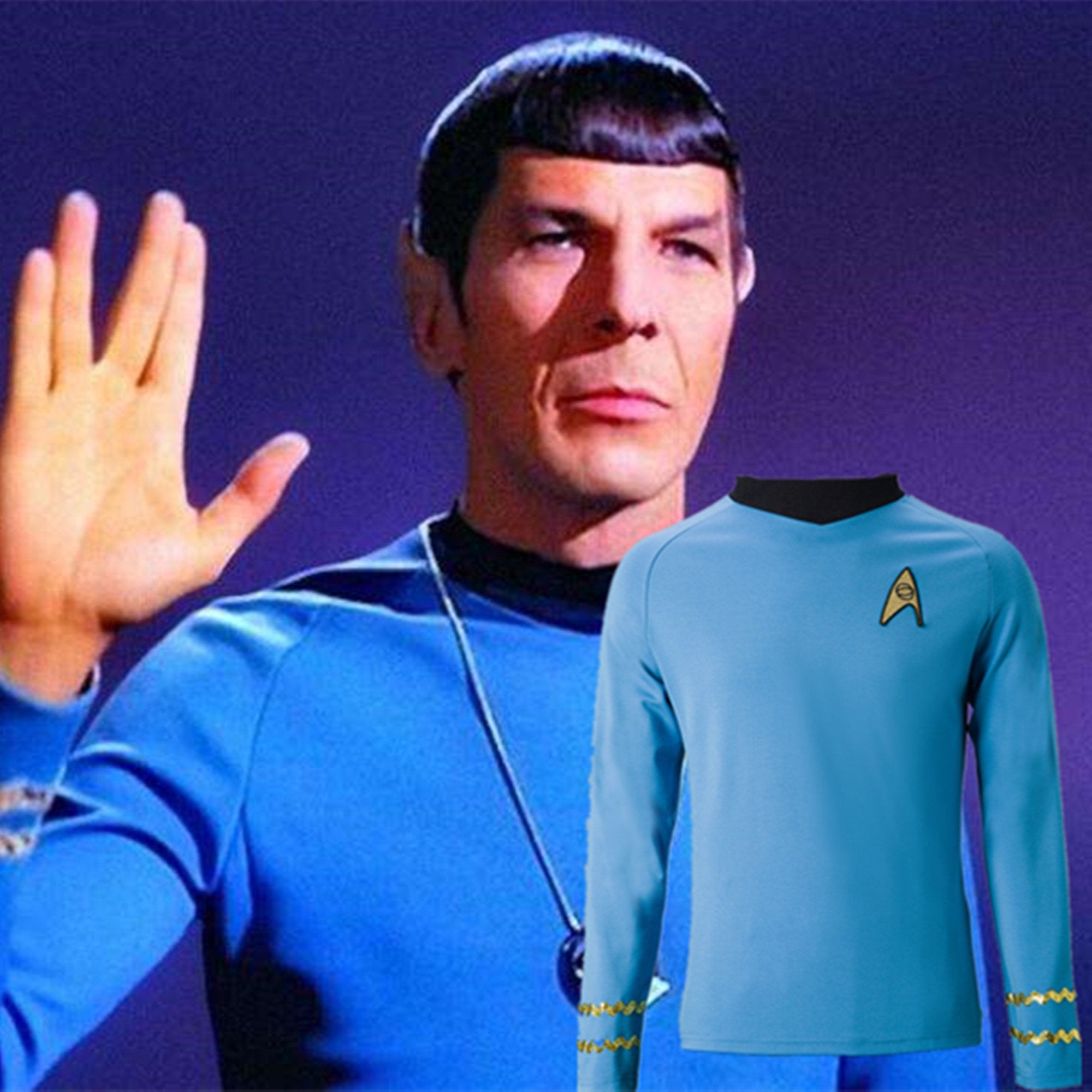 Cosplay Star Trek TOS The Original Series Kirk Shirt Uniform Costume Halloween Blue Costume - BFJ Cosmart