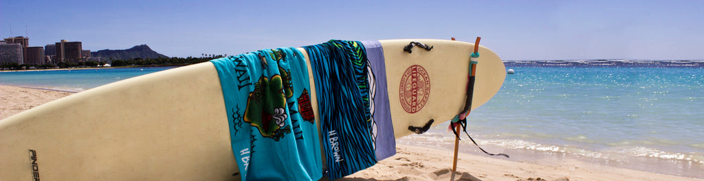 Surf beach towels by heather brown