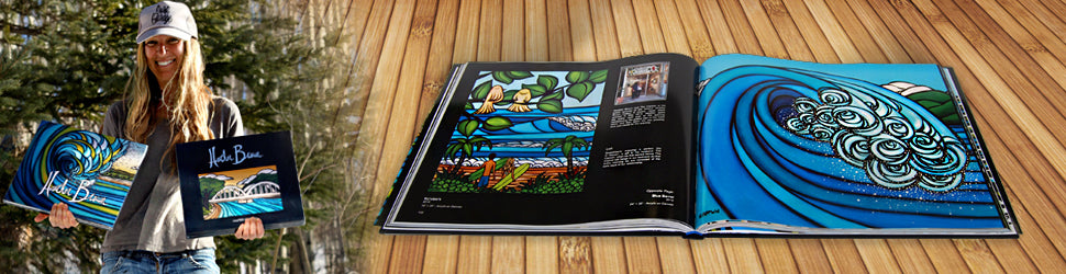 Fine Art Coffee Table Books with limited edition canvas inserts