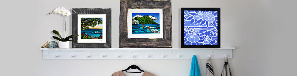 Heather Brown Art Handmade Frames to add a beautiful polished look to your Hawaii artwork