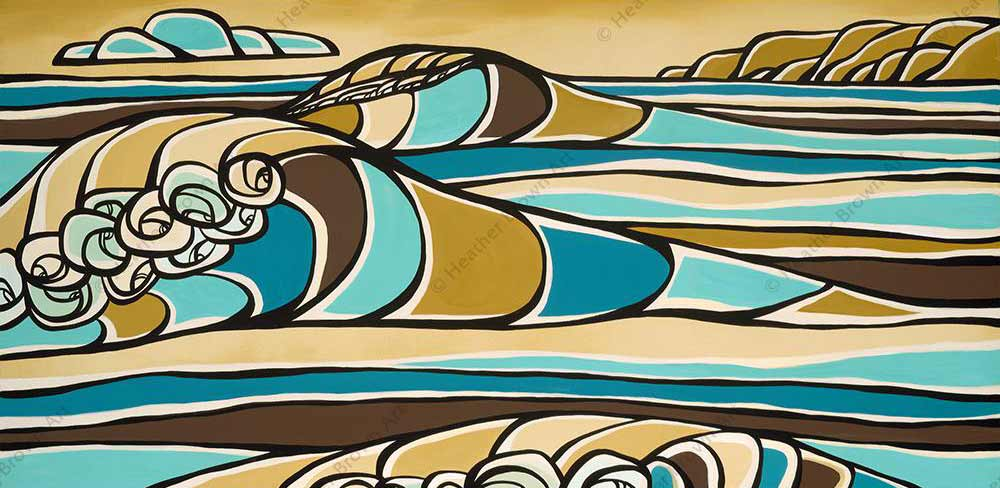 Heather Brown Favorite Hawaii Surf Wave Art