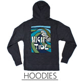Tropical Wave Art Hoodies by North Shore surf artist Heather Brown