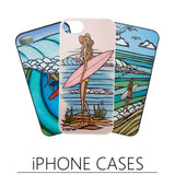 Fine Art Surf Beach iPhone Cases by Heather Brown