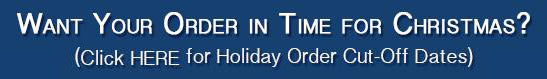 Holiday Order Cut-Off Dates