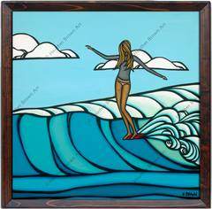 canvas giclee prints surf coastal seascape art by Heather Brown