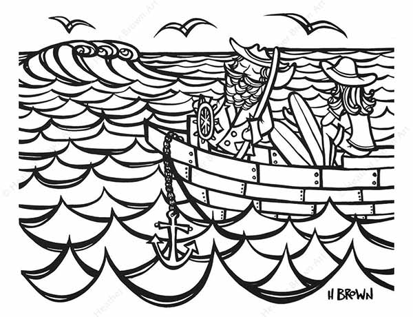 Free Coloring Page pdf Download - Heather Brown