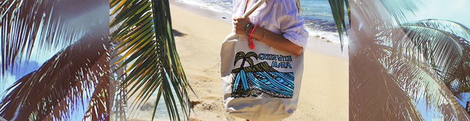 fa319b705ed3 Totes & Clutches - Heather Brown Surf Art | Tropical Hawaiian Surf ...