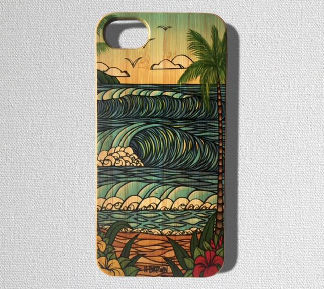 This durable, limited release iPhone case features a beautiful Hawaiian landscape with crashing waves and sandy beaches.