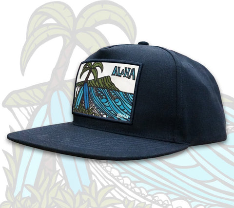 Aloha Diamond Head Patch Hat by Hawaii artist Heather Brown