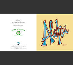 Detail - Aloha Greeting Card by Heather Brown