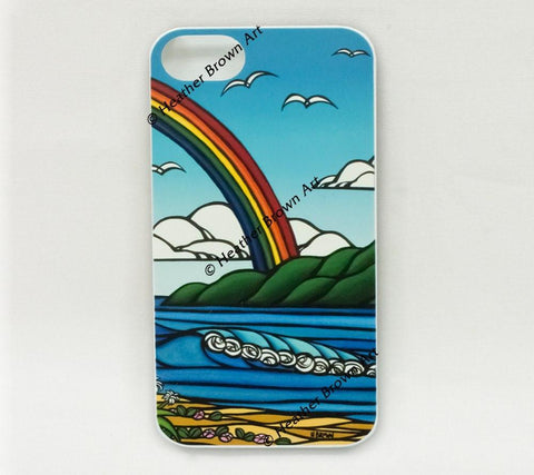Ānuenue - A new limited release iPhone case by Heather Brown featuring roaring surf and the tropical rainbows of Hawaii