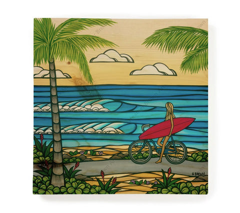 Beach Cruise - Open Edition Wood Panel Print by Heather Brown