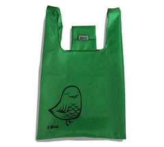 """Bird"" reusable and collapsible folding grocery bag by Heather Brown Art"