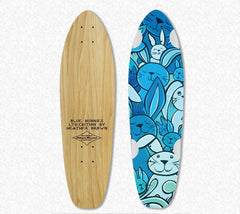 Free skateboard deck with every limited edition Blue Bunny painting purchase