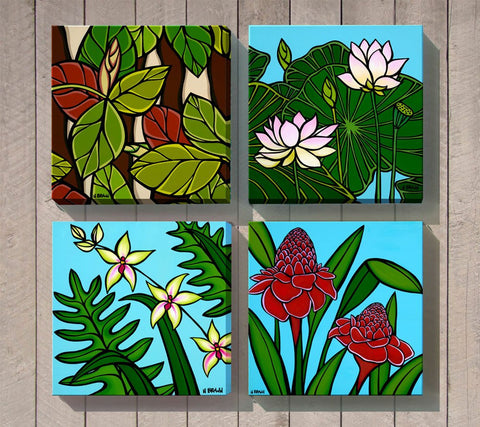 Hawaiian Botanical Series (Set of 4) by Heather Brown