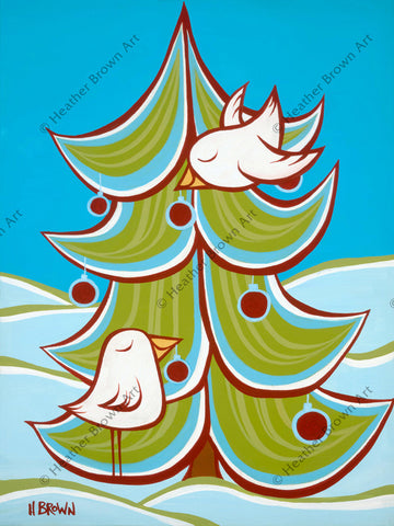 Christmas Tree Greeting Card by Heather Brown - The perfect way to send your love to family and friends this holiday season!