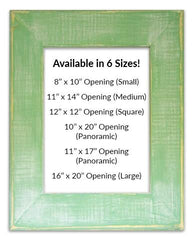 Classic Green Reclaimed Wood Frames (Mat Prints) Available in six sizes by Heather Brown Art