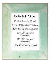 Classic Seafoam Reclaimed Wood Frames (Mat Prints) Available in six sizes by Heather Brown Art