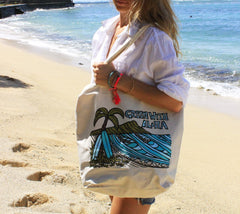 """Diamond Head"" Green with Aloha tote bag by Heather Brown Art"