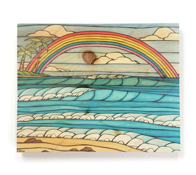 Daydream Rainbow - Open Edition Wood Panel Print by Heather Brown