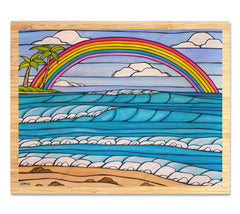 Try it with a Bamboo Wood Grain bordering Heather's Beautiful artwork?