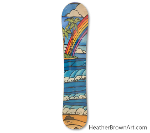 "The ""Daydream Rainbow"" Limited Edition Snowboard was made in collaboration with Heather Brown Art x Elan Snowboards for the 2014-2015 season."