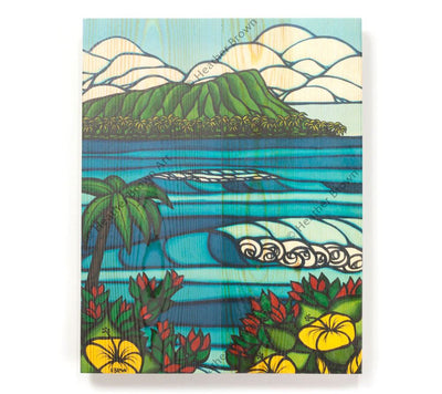 Diamond Head - Open Edition Wood Panel Print by Heather Brown
