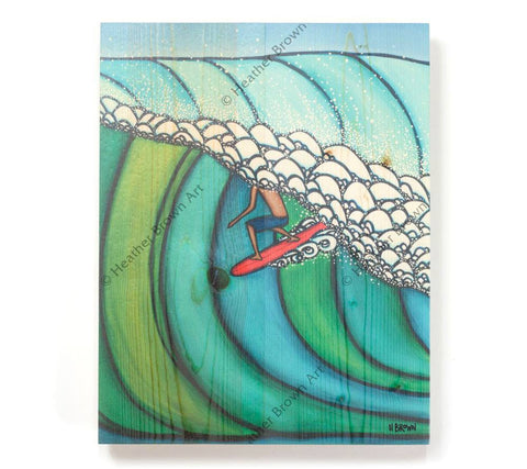 Double Overhead - Open Edition Wood Panel Print by Heather Brown