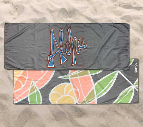 Falling Flowers Aloha Yoga Towel
