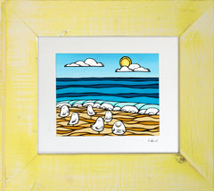 Birds Under the Sun - Framed Matted Print by Heather Brown