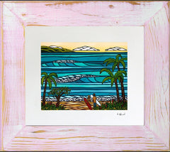 Framed and matted print of Hawaiian Holiday by Heather Brown