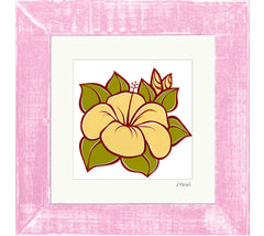 Hibiscus - Framed Matted Print by Heather Brown
