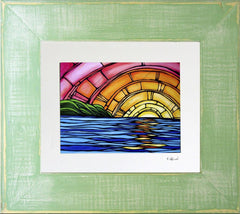 Framed and matted print of Juicy Sunset by Heather Brown