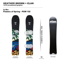 Flowers of Spring -POW Snowboard