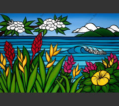 Heather Brown beautifully depicts the flowers of North Shore, Hawaii.
