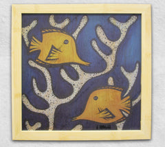 Yellow Tangs - Framed
