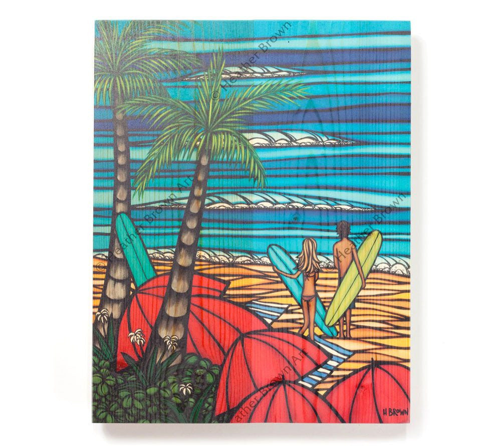 Fun in the Sun - Open Edition Wood Panel Print by Heather Brown