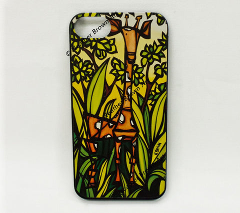Jungle Giraffe iPhone Case by Heather Brown
