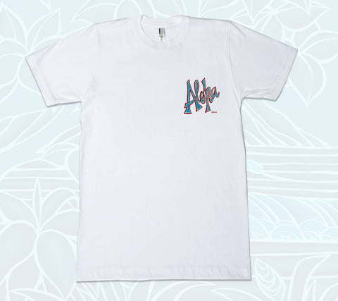 Aloha T-Shirt by tropical Hawaii artist Heather Brown