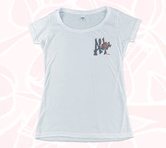 Aloha & Surfboards Double-sided Women's Scoop Tee