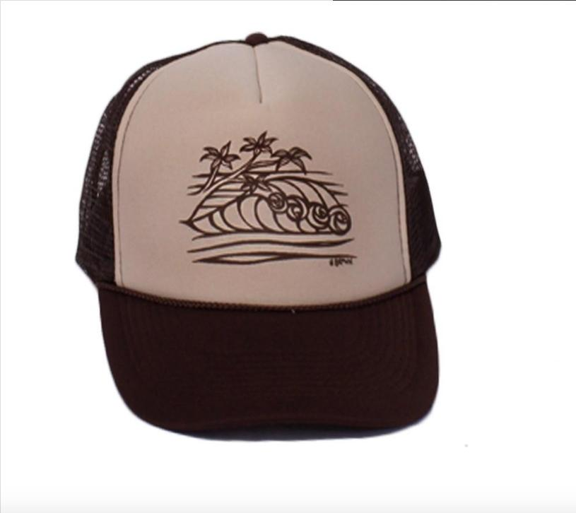 58051253edaac Surf Tree Trucker Hat - Products - Heather Brown Art